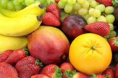 Colorful fruit mix Royalty Free Stock Photo