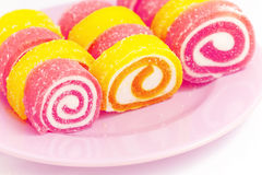 Colorful fruit-paste sweets Stock Photography
