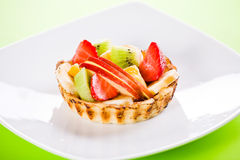 Colorful Fruit Pie. Close up photograph of a small fruit pie stock photography
