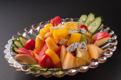Colorful fruit platter Royalty Free Stock Photo