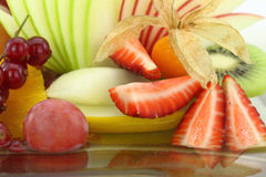 Colorful fruit salad Stock Images
