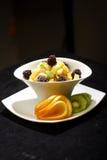 Colorful fruit salad dessert stock photos