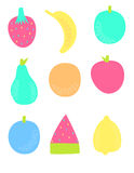 Colorful Fruit. A colorful set of fruit illustrations Stock Image