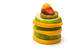 Colorful fruit stack Royalty Free Stock Photography