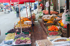 Colorful fruit stand Royalty Free Stock Photography
