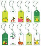 Colorful fruit tags. Stock Photography