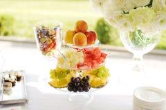 Colorful Fruit Vase Royalty Free Stock Photography