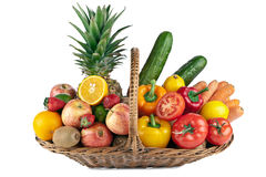 Colorful fruit and vegetables  composition Royalty Free Stock Photos