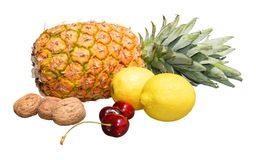 Colorful fruit on white background Royalty Free Stock Photography