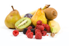 Colorful Fruits. Isolated on a white background royalty free stock photography
