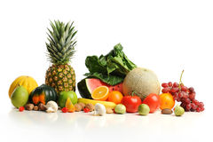 Colorful fruits arranged in a group Stock Images