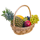 Colorful fruits in basket Royalty Free Stock Image