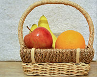 Colorful fruits in the basket p1 Royalty Free Stock Photography