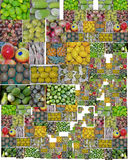 Colorful Fruits boxes Royalty Free Stock Images