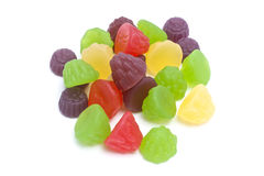 Colorful fruits candy Stock Images