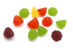 Colorful fruits candy Stock Photos