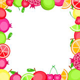 Colorful  fruits frame Stock Photography