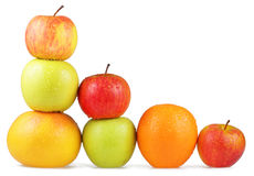 Colorful fruits layered on top of each other Royalty Free Stock Image