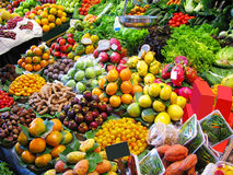 Colorful fruits market Stock Photo