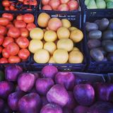 Colorful fruits. Photo of an colorful fruit stand Royalty Free Stock Image