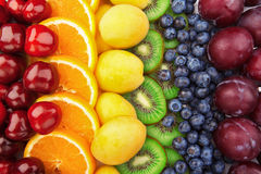 Colorful fruits rows Stock Image