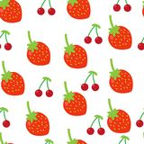 Colorful fruits seamless pattern Royalty Free Stock Images