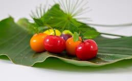 Delerable Imitation Fruits, Thai dessert. The colorful fruits sweets, Delerable Imitation Fruits is one of the popular auspicious Thai desserts royalty free stock image