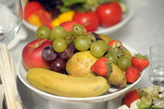 Colorful fruits on the table Stock Images