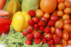 Colorful fruits and vegetable collection Royalty Free Stock Images