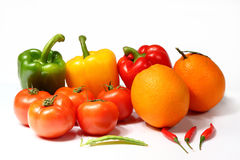 Colorful fruits and vegetables Royalty Free Stock Image