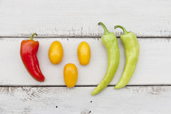 Colorful fruits and vegetables Stock Photography