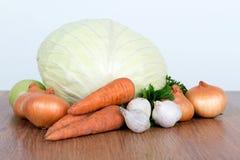 Colorful fruits and vegetables background. Vitamin vegetarian set. Stock Image