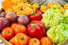 Colorful fruits and vegetables Stock Images