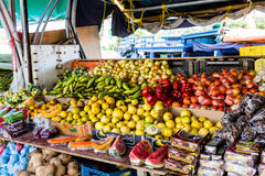 Colorful Fruits and Vegetables in Curacao royalty free stock photography