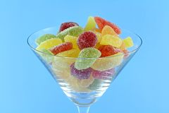 Colorful fruity chewy sweet and sour candy Royalty Free Stock Photos