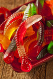 Colorful Fruity Gummy Worm Candy Royalty Free Stock Image