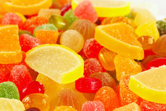 Colorful fruity jujube and sweets closeup Royalty Free Stock Image