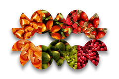 Colorful fruity mask Royalty Free Stock Photos