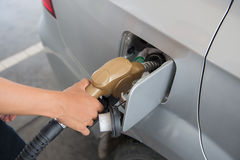 Colorful fuel oil gasoline Royalty Free Stock Images