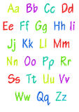 Colorful full alphabet Stock Images