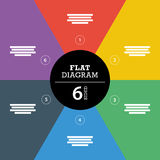 Colorful full background stripe puzzle presentation diagram infographic template with explanatory text field Stock Images