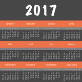 2017 Colorful Full Year Calendar Design. Abstract Colorful Modern Styled Monthly Calendar or Cover Template Creative Design, 365 Days of Year 2017 - Illustration Stock Illustration