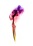 Colorful fume abstract curves over the white Stock Image