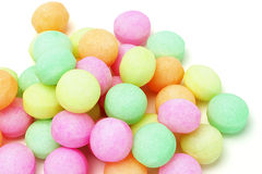 Colorful fumigant naphthalene balls Royalty Free Stock Photos