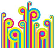 Colorful fun background. Colorful abstract fun background design Royalty Free Stock Images