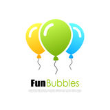 Colorful fun balloons logo. Vector illustration Stock Illustration