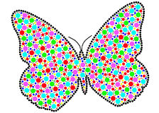 Colorful fun butterfly Royalty Free Stock Images