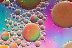 Colorful, fun, cheerful psychedelic abstract background stock image