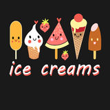Colorful fun ice cream Royalty Free Stock Photography