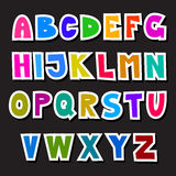 Colorful Funny Alphabet Set Stock Photos